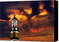 Campus Canvas Prints - Purdue Bell Tower Canvas Print by Purdue University