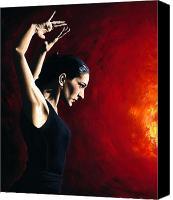 Pose Canvas Prints - Pure Flamenco Canvas Print by Richard Young