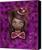 Mad Hatter Canvas Prints - Purple Canvas Print by  Abril Andrade Griffith