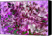Dramatic Light Mixed Media Canvas Prints - Purple Abstract Canvas Print by Carol Groenen