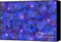 Color Mixed Media Canvas Prints - Purple And Blue Abstract Canvas Print by Frank Tschakert