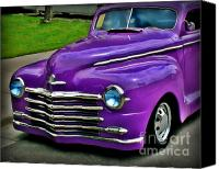 Purple Car Canvas Prints - Purple Cruise Canvas Print by Perry Webster