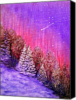 Snowy Night Canvas Prints - Purple Dream  Canvas Print by Irina Astley