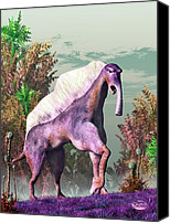 Camel Digital Art Canvas Prints - Purple Fantasy Creature Canvas Print by Daniel Eskridge