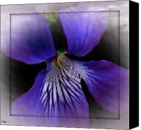 Lovely Looking Flower Mixed Media Canvas Prints - Purple Flower Jump Canvas Print by Debra     Vatalaro