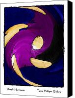 All Canvas Prints - Purple Hurricane Canvas Print by Terry Mulligan