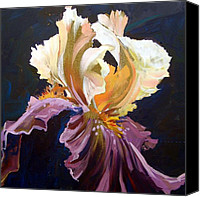 Mjonesart Canvas Prints - Purple Iris Canvas Print by Micheal Jones