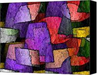 All Canvas Prints - Purple Layers of Abstract Canvas Print by Terry Mulligan