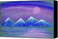 Landscapes Pastels Canvas Prints - Purple Night 3 Canvas Print by Hakon Soreide