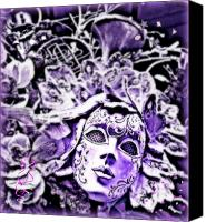 Purple Jester Digital Art Canvas Prints - Purple Party Passion Canvas Print by Amanda Horne