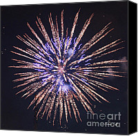 Independence Day Canvas Prints - Purple Pizazz Canvas Print by Suzanne Gaff