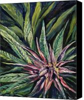 Bud Painting Canvas Prints - Purple Power Canvas Print by Mary Jane