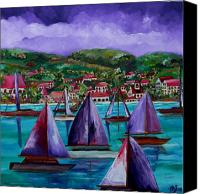 Tropical Beach Canvas Prints - Purple Skies Over St. John Canvas Print by Patti Schermerhorn