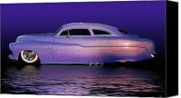 California Hot Rod Canvas Prints - Purple Sled Canvas Print by Bill Dutting
