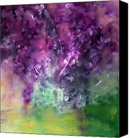Imaging Painting Canvas Prints - Purple Vortex Painting Canvas Print by Don  Wright
