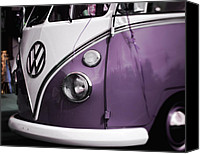Purple Car Canvas Prints - Purple VW Van Canvas Print by Marcie Adams Eastmans Studio Photography