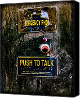 Metal Canvas Prints - Push To Talk Canvas Print by Bob Orsillo