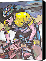 Tour De France Canvas Prints - Pushing it to the Limit Canvas Print by Sandy Tracey