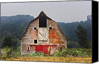 Barn Windows Canvas Prints - Put on a Happy Face Canvas Print by Debra and Dave Vanderlaan
