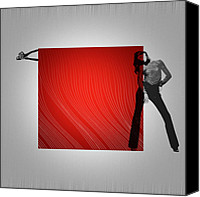 Contemporary Dance Painting Canvas Prints - Quad Canvas Print by Irina  March