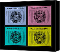 D.c. Digital Art Canvas Prints - QUAD TWOs in COLORS Canvas Print by Rob Hans