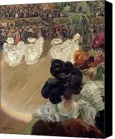 Onlookers Canvas Prints - Quadrille at the Bal Tabarin Canvas Print by Abel-Truchet