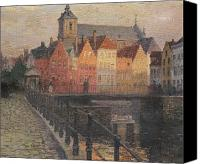 Cobbles Canvas Prints - Quai de la Paille Canvas Print by Paul Albert Steck