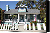 Fences Canvas Prints - Quaint House Architecture - Benicia California - 5D18817 Canvas Print by Wingsdomain Art and Photography