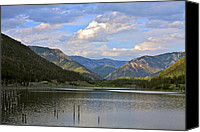 Gallatin River Canvas Prints - Quake Lake Canvas Print by Karon Melillo DeVega