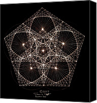 Triangle Canvas Prints - Quantum Star II Canvas Print by Jason Padgett