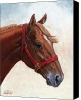Four Corners Canvas Prints - Quarter Horse Canvas Print by Randy Follis