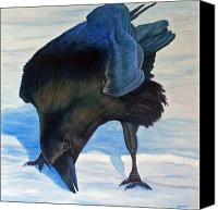 Ravens Canvas Prints - Que Pasa Canvas Print by Brian  Commerford