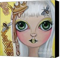 Jasmine Painting Canvas Prints - Queen Bee Canvas Print by Jaz Higgins