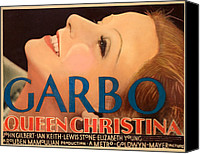 Posth Canvas Prints - Queen Christina, Greta Garbo, 1933 Canvas Print by Everett
