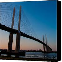 Bridge Crossing River Photo Canvas Prints - Queen Elizabeth 2nd Bridge Canvas Print by Dawn OConnor