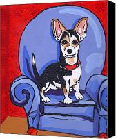 Caricature Painting Canvas Prints - Queen Lucy Canvas Print by Laura Brightwood