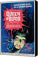 Horror Fantasy Movies Canvas Prints - Queen Of Blood, Florence Marley, 1966 Canvas Print by Everett