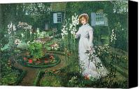 Atkinson Canvas Prints - Queen of the Lilies Canvas Print by John Atkinson Grimshaw