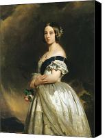 1842 Canvas Prints - Queen Victoria Canvas Print by Franz Xaver Winterhalter
