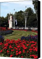 Nature Flowers Canvas Prints - Queen Victoria Memorial Gardens Canvas Print by John Rizzuto