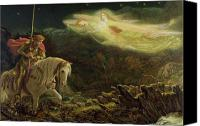 Myths Canvas Prints - Quest for the Holy Grail Canvas Print by Arthur Hughes
