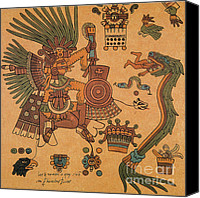 Diety Canvas Prints - Quetzalcoatl, Aztec Feathered Serpent Canvas Print by Photo Researchers