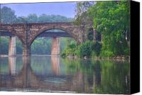 Fairmount Park Canvas Prints - Quiet River Canvas Print by Bill Cannon