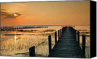 Chincoteague Canvas Prints - Quiet Time Canvas Print by Steven Ainsworth