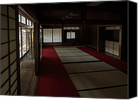 Screen Doors Photo Canvas Prints - QUIETUDE of ZEN MEDITATION ROOM - KYOTO JAPAN Canvas Print by Daniel Hagerman