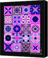 Quilt Blue Blocks Canvas Prints - Quilt Blocks Canvas Print by Methune Hively