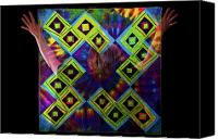 Quilt Pattern Canvas Prints - Quilt Spirit Canvas Print by Scott Sawyer