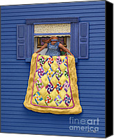 Hand Crafted Canvas Prints - Quilted Showing Canvas Print by Anne Klar