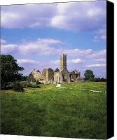 Middle Ages Photo Canvas Prints - Quin Abbey, Quin, Co Clare, Ireland Canvas Print by The Irish Image Collection 