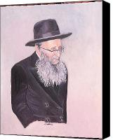 Rav Canvas Prints - Rabbi Kamenetsky  Canvas Print by Carla Goodstein